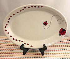 Fiestaware White Ladybug Large Platter Fiesta Retired 13.5 inch Exclusive NWT
