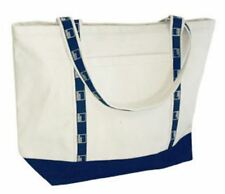 Authentic Goldman Sachs Boat Bag - Natural & Navy