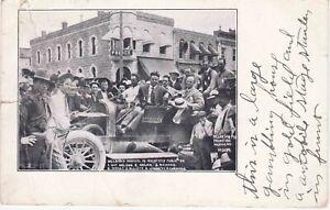 1906 Battling Nelson vs Joe Gans Goldfield Nevada Championship Fight Postcard