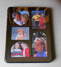 "Silverplated collage photo frame album 6"" x 8"" for 5 photos - 15 pockets inside"