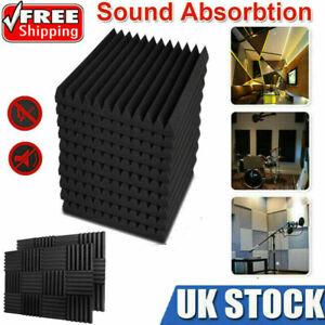12/24/48PCS Acoustic Wall Panel Tiles Studio Sound Proofing Insulation Foam Pads