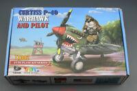 Tiger  Curtiss P-40  Model TT002 Fighter (Q Edition) Warhawk and Pilot Egg-Plane