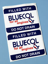 BLUECOL Vintage Style 'Anti Freeze' radiator fill stickers x2 decals Classic car