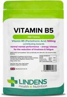 Vitamin B5 (pantothenic acid) 500mg (360 tablets) stress, energy, skin One a Day