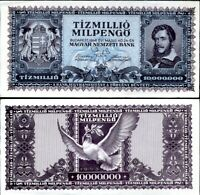 HUNGARY 10,000,000 MILPENGO 1946 P 129 UNC