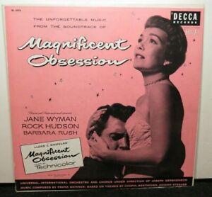 JANE WYMAN ROCK HUDSON MAGNIFICENT SOUNDTRACK (VG+) DL-8078 LP VINYL RECORD