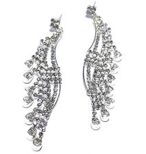 Rhinestone Bridal Pageant Prom 3.5 Chandelier Earring Earrings Austrian Crystal