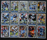 2012 Topps Detroit Lions Team Set of 15 Football Cards