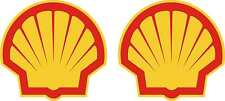 """2 x Classic Shell Oils 6"""" shell Race & Rally Car Stickers."""