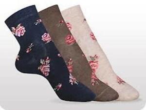 Women's Socks Girls Socks Fine Socks Cotton Rose Pattern Size 36-39 Conte