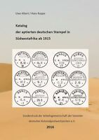 Catalogue of the adapted German postmarks in Southwest Africa after 1915