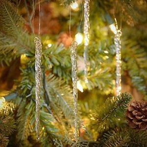 Kurt Adler Glass Icicle Christmas Ornaments 12 Piece