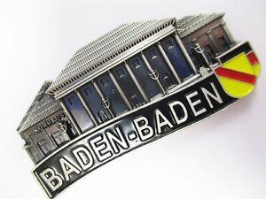 Baden Baden Metall Magnet Germany Souvenir Deutschland ,Neu