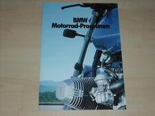 62790) BMW R 100 RS RT CS R 80 GS R 65 R 45 Prospekt 02/1981