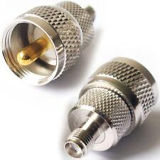 UHF PL259 Plug to SMA Socket Adapter Converter–Antenna Coax Amateur Radio Thread