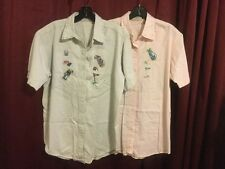 Northern Reflections Casual Golf Shirts Lot Of 2 Women's S Detailed Embroidery