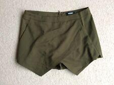 """Misguided green skort shorts size 12 30"""" waist"""