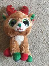 Ty Beanie Boos Alpine the Reindeer, Brown, Red, Green, 2015