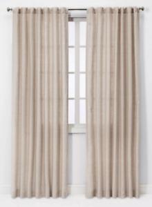 "Threshold Linen Light Filtering (1)Curtain Panel Natural 95""x54"""