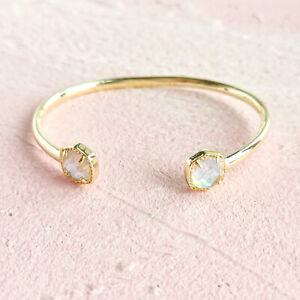 Kendra Scott Davie Dichroic Glass Gold Cuff Bracelet AUTHENTIC NEW