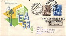 Repubblica Italiana 1953 FDC Venetia Club Esposizione Agricoltura
