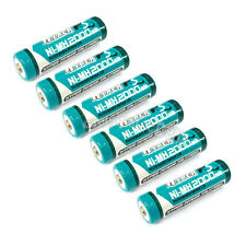 6 pcs AA LR06 2000mAh 1.2V NI-MH rechargeable battery CELL/RC MP3 2A HYPER BLUE