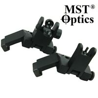 MST OPTICS Front and Rear Flip Up 45 Degree Offset Transition Backup Iron Sights