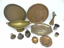 Mixed Lot Copper Brass Metal Steampunk Decorative Trays Platters Plant Holder