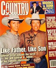 Autographed George Strait Country Weekly Magazine Cover 1/2013