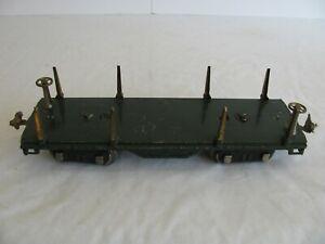 Prewar 1927-40 Lionel Trains Standard Gauge Flat Car w/ Brass Trim #511 VG