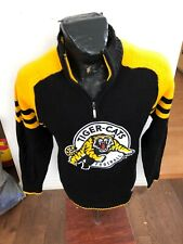 MENS Small Football Pullover Zip Neck Knit Sweater CFL Hamilton Tiger Cats