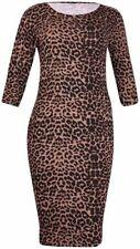 Kurzarm Damenkleider aus Viskose in Größe 46