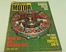 Apr 1973 MODERN MOTOR Mag SARICH Engine BMW Volvo etc
