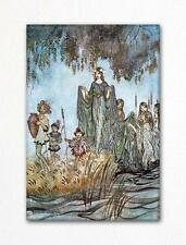Sabrina Rises from Comus Arthur Rackham Illustration Fridge Magnet