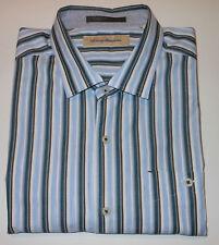 TOMMY BAHAMA COLORFUL STRIPED L/S FANCY COTTON DRESS SHIRT. TB4367