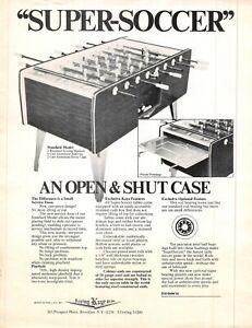 Super-Soccer Foosball Irving Kaye 1970s Advertising Sales Flyer 021219AME