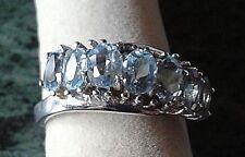 HSE Harry Ivens Damen Ring Silber 925 Blautopas Gr. 18 neuwertig