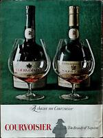 Courvoisier The Brandy of Napoleon Vintage Advertisement 1966