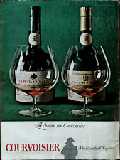 Courvoisier The Brandy of Napoleon Vintage Advertisement 1966