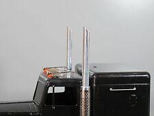 L&R Aluminum Angle Cut 45' Stack Exhaust Pipe Tamiya 1/14 King Hauler Globeliner