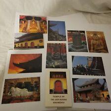 temple of the jade buddha shangai china postcard folder lot of 10