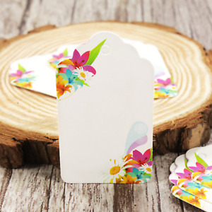 10PCS Flower Color Paper Thank You Tags Birthday Wedding Favor Gift Paper Kraft