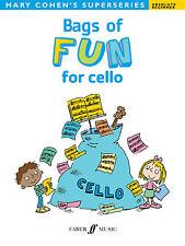 SACCHI di divertimento per Cello bambini strumentale Assolo Principiante CANZONI FABER LIBRO MUSICA