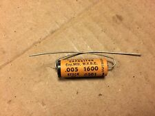 NOS Vintage Olson .005 uf 1600v Molded Paper Capacitor Guitar Amp Cap (Qty Avail
