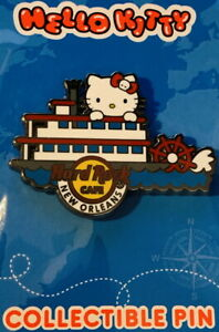 Hard Rock Cafe NEW ORLEANS 2021 HELLO KITTY Global Series PIN New on Card LE 200