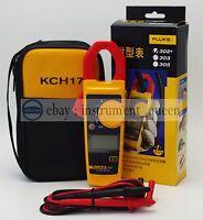 FLUKE 302+ with coft case KCH17 Handheld Digital Clamp Meter Multimeter Tester