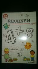 Kinderbuch Mathe Rechnen lernen mit Stickern Neu 1. Klasse Vorschule Mathematik