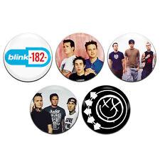 5x Blink-182 Band Pop Punk Rock 25mm / 1 Inch D Pin Button Badges