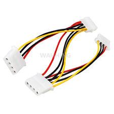 4 Pin Molex Male to 3 port 4Pin Molex IDE Female Power Supply Splitter Adapter