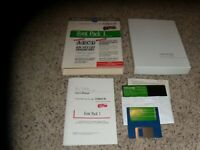 "Font Pack I for Apple IIe, IIc, IIGS on 5.25"" and 3.5"" disks with box and manual"